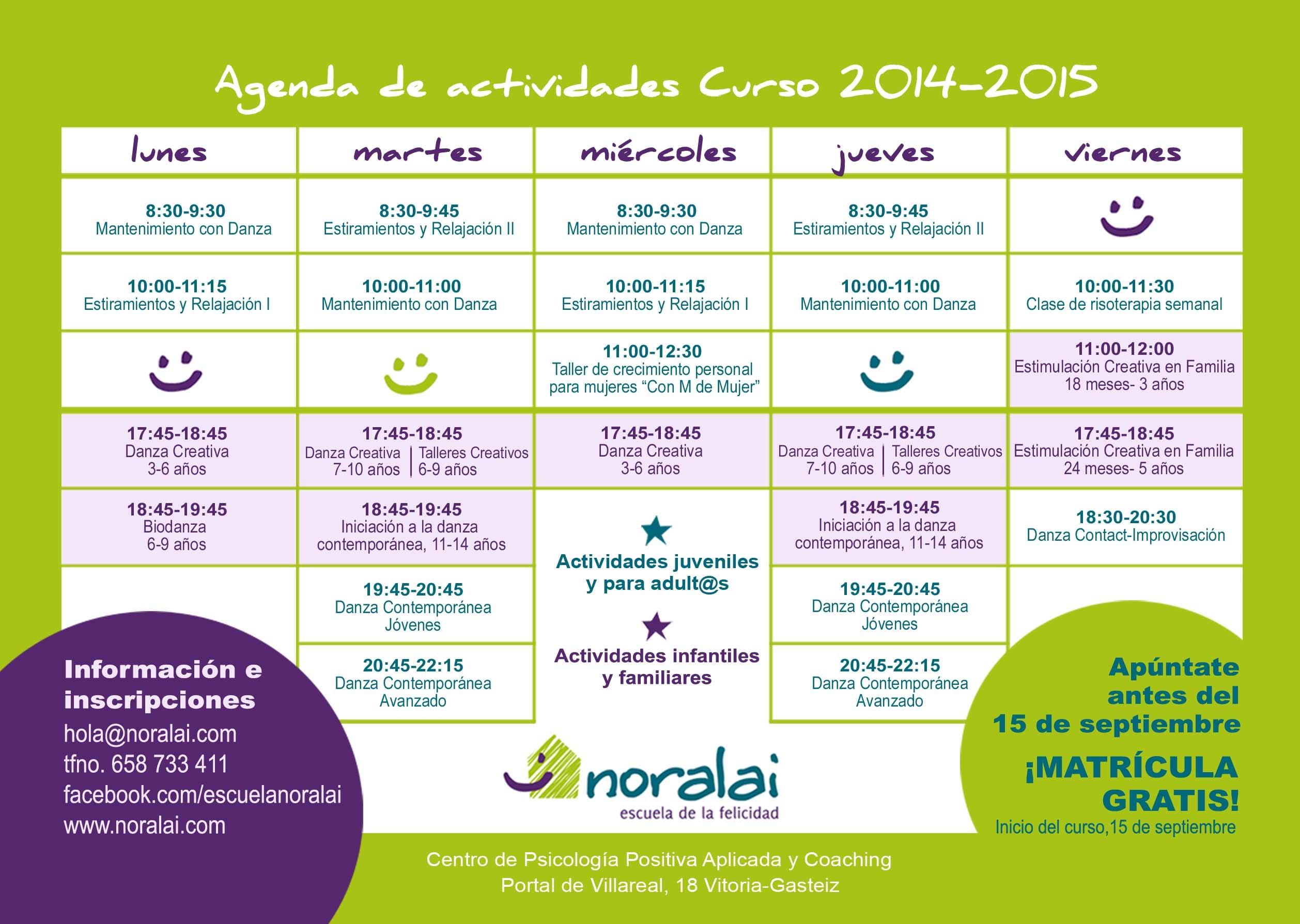 ACTIVIDADES 2014-2015