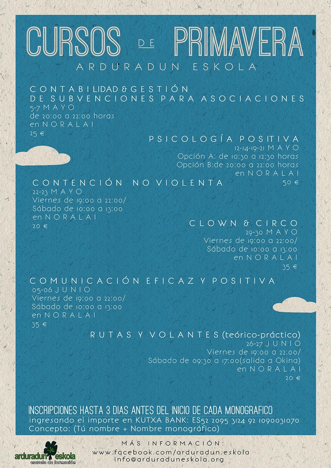 CURSOS DE PRIMAVERA