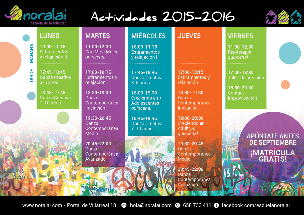 Actividades curso 2015-2016
