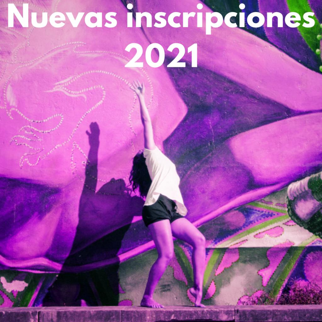Nuevas inscripciones 2021